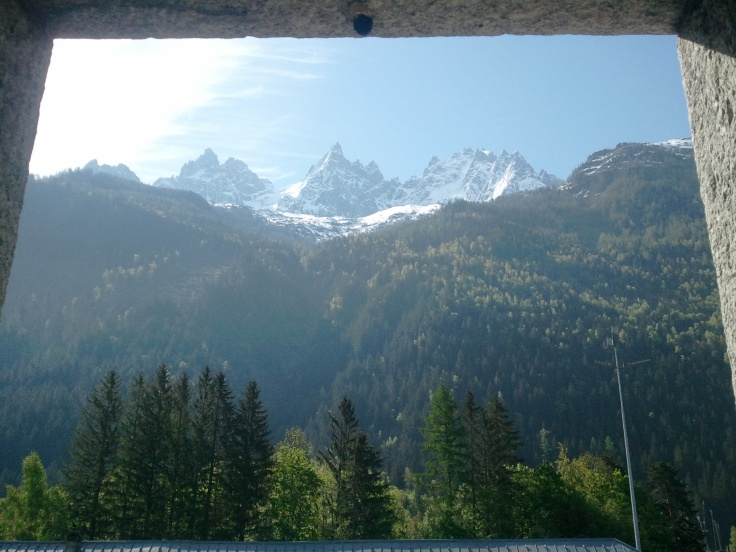 Mont Blanc from our window